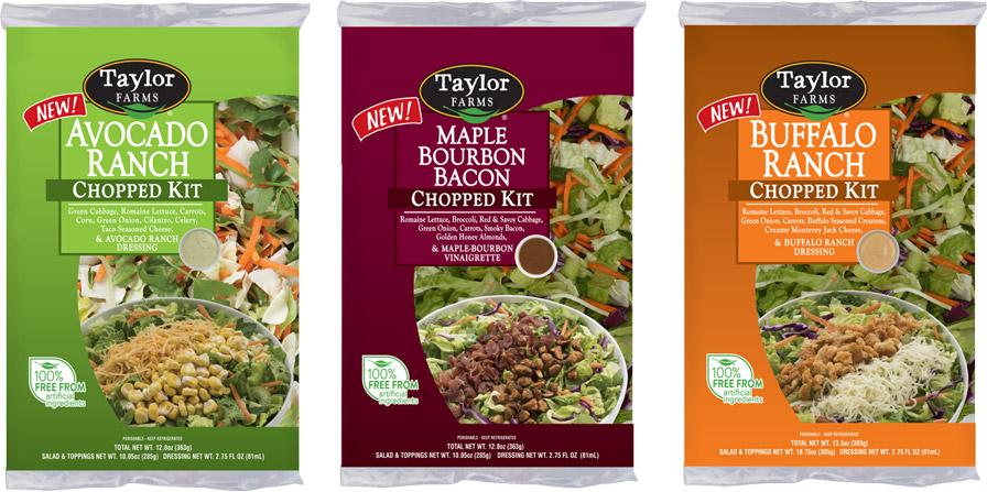 Three New Chopped Salad: Avocado Ranch, Maple Bourbon Bacon, and Buffalo Ranch